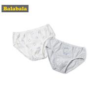 巴拉巴拉男童 儿童内裤三角裤秋季宝宝1-3岁棉质卡通裤衩两条装男