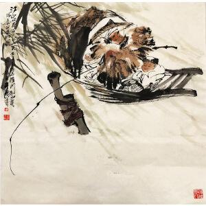 王涛《垂钓》著名画家