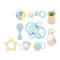 婴儿摇铃牙胶手摇铃新生儿玩具0-3-6-12个月宝宝0-1岁手抓球