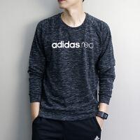 Adidas阿迪达斯 NEO 男子 运功休闲卫衣 圆领保暖卫衣 BQ6838
