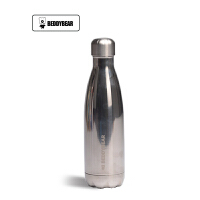 【当当自营】杯具熊(BEDDYBEAR) 双层不锈钢真空可乐瓶运动时尚户外车载男女水壶 直身随手保温杯500ml 银空灰可乐杯