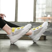 运动鞋白色女时尚新款糖果色魔术贴小白鞋夏季跑步厚底小白鞋
