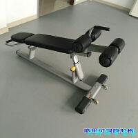 健身房商用力量器材 腹肌板仰�P起坐板 可�{腹肌��器 商用可�{腹肌板 (雅黑�|)