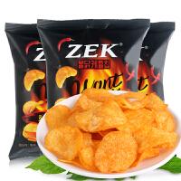 韩国进口零食 ZEK超辣火鸡味马铃薯片60g*3包膨化土豆片批发包邮