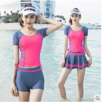 游泳衣女两三件套分体韩国保守泡温泉遮肚小香风学生小胸聚拢泳装