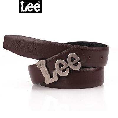 Lee皮带男士式腰带韩版针扣休闲百搭裤带真皮牛仔裤牛皮李牌