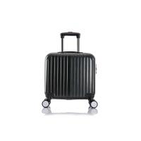 七夕礼物新品行李箱包PC便携式拉杆登机拉杆箱行李箱16寸拉杆旅行箱 黑色 16寸