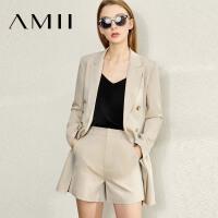 【到手价:273元】Amii极简御姐风洋气套装女2020季新款西装外套五分休闲短裤两件套