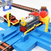 可充电动小火车套装轨道车多层可充电动轨道车汽赛车3-456岁男孩