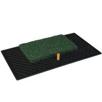 可定做草皮橡胶打击垫 高尔夫练习毯 高尔夫练习垫 室内练习垫 挥杆球垫