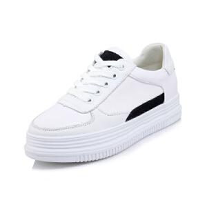 O'SHELL法国欧希尔新品065-956休闲头层牛皮里外全皮真皮松糕底女士板鞋小白鞋