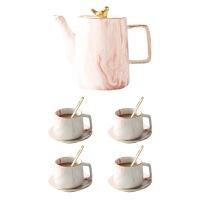 北欧大理石陶瓷咖啡具ins网红茶壶欧式咖啡杯碟套装客厅装饰托盘