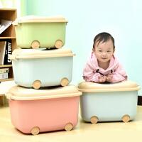 整理箱 塑料卡通装玩具收纳箱2020新款零食儿童大小号衣服整理箱零食箱子