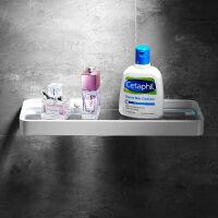 北欧简约黑色免打孔太空铝浴室置物架卫生间收纳架浴室化妆台白色
