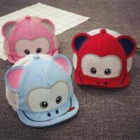 宝宝帽子1-2岁春夏遮阳帽男童帽布款网眼棒球帽女童鸭舌帽婴儿帽