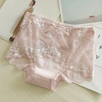 舒适性感内裤 唯美蕾丝 软薄透气 纯棉裆 中高腰 女士内衣