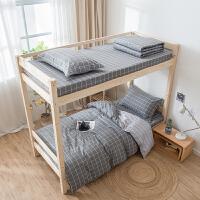 学生宿舍床上三件套全棉纯棉被套0.9m1.2米床单人寝室床品