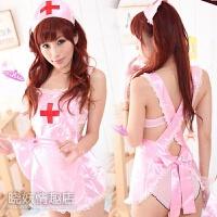大码透明粉嫩护士装3件套 情趣套装 情趣护士制服诱惑