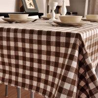 简约风桌布格子亚麻桌布布艺茶几布餐桌布艺台布茶几布餐垫长方形