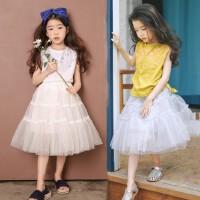 韩版女童装夏季母女装网纱裙女孩蓬蓬裙中大儿童舞台表演半身裙子