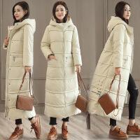 冬装新款韩版中长款女时尚连帽修身显瘦过膝时尚潮流女装