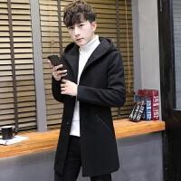 男士中长款风衣新款秋冬季韩版帅气呢子大衣学生潮流毛呢外套