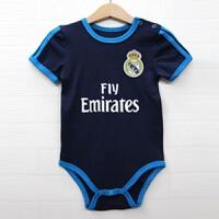 新款宝宝婴儿运动足球服哈衣爬服短袖连体衣爬爬服小童装速干排汗透气舒适 8 66CM(70码 身高60-65CM)