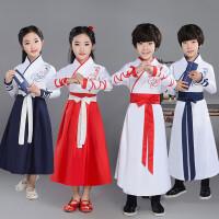儿童汉服国学服儿童演出服中国风男童三字经表演服装儿童古装汉服