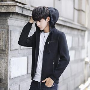 男士外套休闲夹克男青年2017新款潮流韩版帅气修身春秋薄款上衣