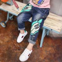 儿童牛仔裤春秋装男童裤子新款宝宝长裤加绒冬季韩版潮童装
