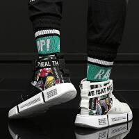 大童鞋加绒男童板鞋新款秋冬季高帮男孩运动鞋