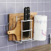 免打孔砧板架菜板架案板架壁挂锅盖架免钉厨房墙上置物架收纳架