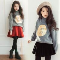 亲子装冬季母女新款中大童加绒加厚卫衣韩版女童裙裤套潮