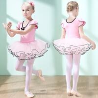 儿童舞蹈服短袖女童芭蕾舞裙夏季女孩练功服跳舞裙幼儿中国舞服装