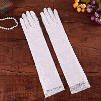 结婚庆用品新娘蕾丝红色白色结婚手套婚纱旗袍婚礼短款长款手套