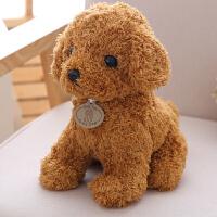 萌萌泰迪狗公仔小狗玩偶可爱宠物狗布娃娃生日礼物送女友毛绒玩具