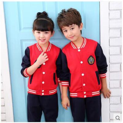 两件套棒球服外套幼儿园服学校活动班服中小学生校服套装新款男女童运动装 品质保证,支持货到付款 ,售后无忧