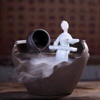 陶瓷客厅办公桌面风水加湿器喷泉流水摆件装饰小礼品禅意