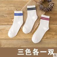 袜子女士中筒袜纯棉袜户外新品韩国运动防臭女短袜学院风日系学生袜