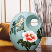 中式家具装饰品创意小摆件客厅酒柜后现代家居饰品陶艺摆设工艺品工艺礼品