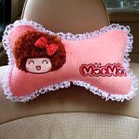 汽车头枕护颈枕骨头枕可爱卡通四季车用靠枕车枕头