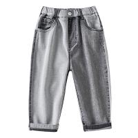 男童牛仔裤儿童裤子中大童夏季七分裤男孩短裤潮童装