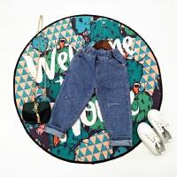 2018春夏新款男童女童好品质柔软割破设计弹力修身牛仔铅笔大裆裤
