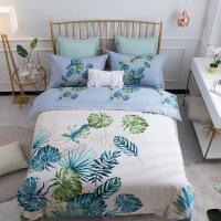 家纺床单被罩纯棉四件套全棉简约床上用品2.0米被套1.8m床双人4件套
