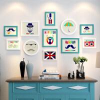实木相框创意挂墙组合连体挂7寸简约画框摆台洗照片加相框相片框 组合一套价