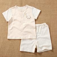 活力熊仔 韩版童装春夏季婴儿服装男女童短袖T恤薄款短裤两件套装