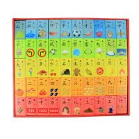 早教玩具儿童双面木制认知识汉字多米诺骨牌积木 2-6岁宝宝