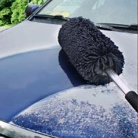 伸缩式洗车除尘车掸蜡拖 刷车擦车拖把汽车洗车工具用品擦车神器