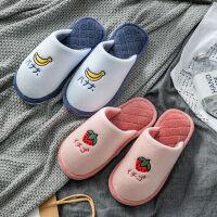 新棉拖鞋女包跟家用冬季月子鞋情�H可�勖扌�居家防滑拖鞋男冬
