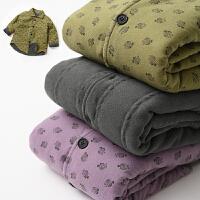 儿童冬季小棉袄 轻便男女童 保暖外套 衬衣领棉衣 冬装